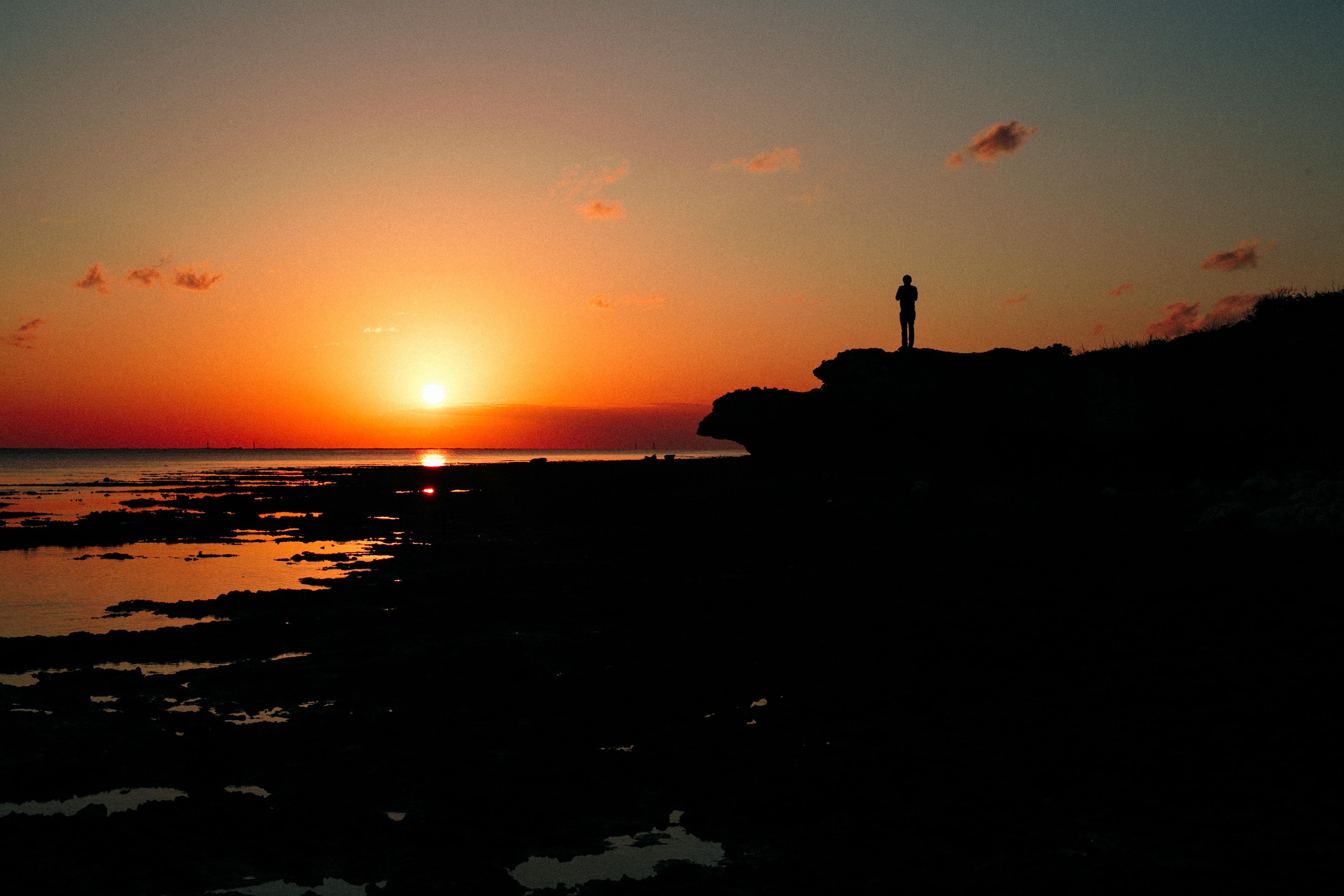 夕陽を見たままに美しく撮影したい